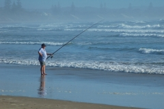 Fishing on Wooli Beach
